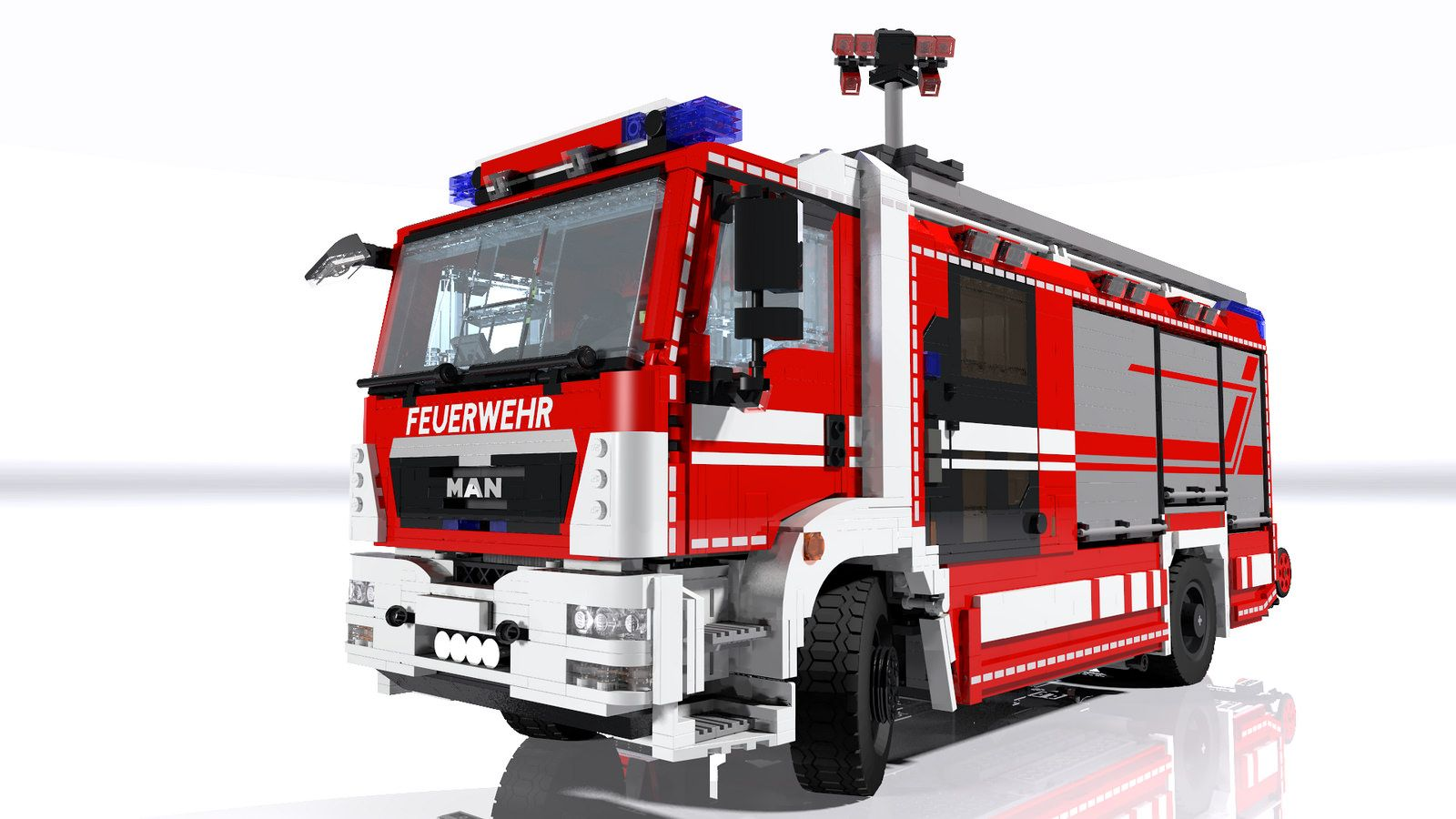 Man Rosenbauer Hlf 20 Rescue Pumper Up Close Lego Feuerwehr