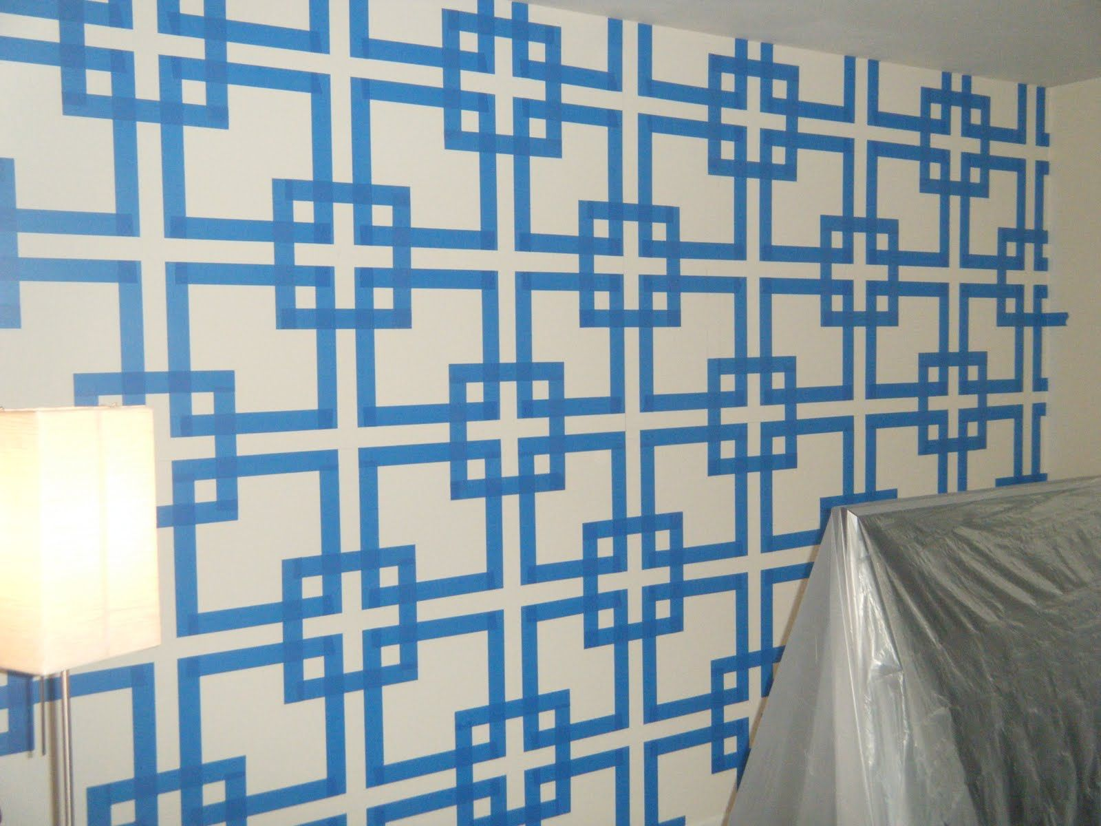 wall taping give a hoot after but before orange you glad i painters tape designpainted - Paint Tape Design Ideas