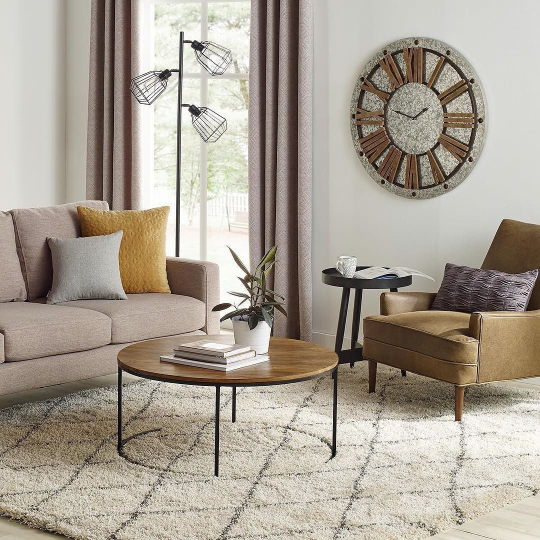 We Just Love That Feeling When All The Decorations Are Away And It S A Fresh Start Featuring Crosby Round Living Room Floor Plans Coffee Table Living Table [ 1080 x 1080 Pixel ]