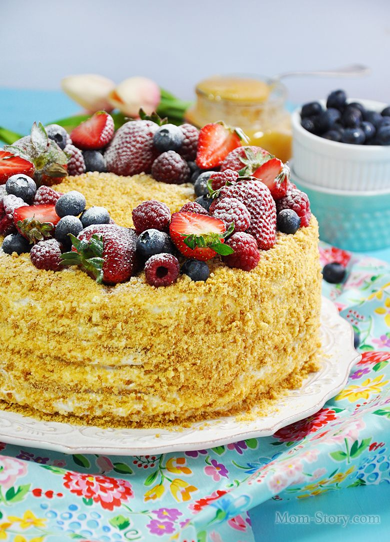 Торт Медовик со сметанным кремом | Рецепт | Рецепты тортов ...