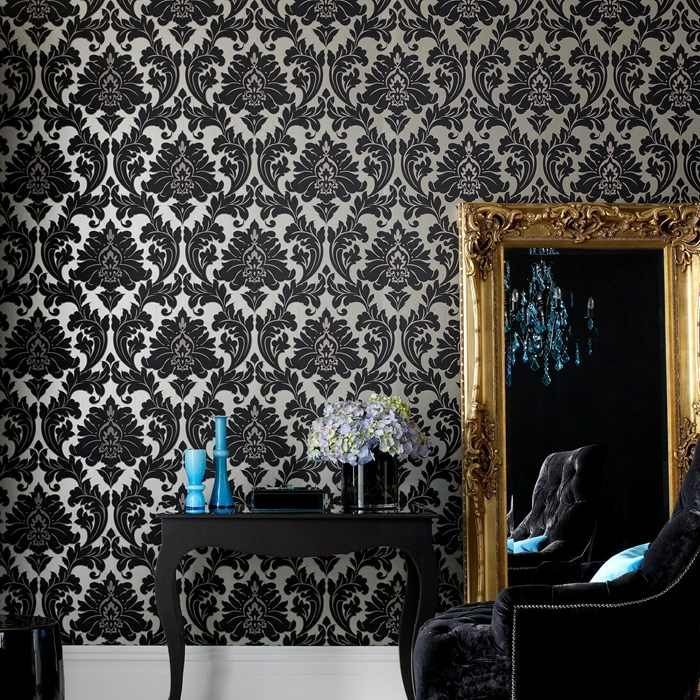 papier peint baroque 24 inspirations pour une d co murale r ussie wall papers and walls. Black Bedroom Furniture Sets. Home Design Ideas