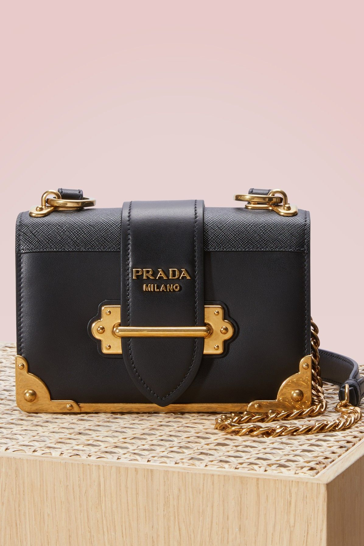 211d3053c24f PRADA Mini cahier bag. #prada #bags #shoulder bags #leather # Fall