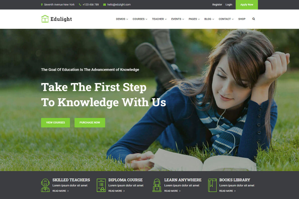20 Best Education Website Templates 2021 Radiustheme Education Website Templates Education Website Template