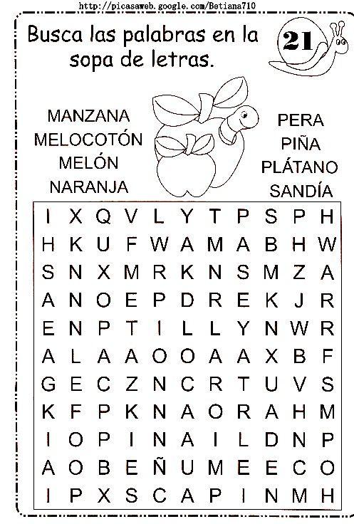 sopa de letras   sopa de letras   Pinterest   Sopas de letras, De ...