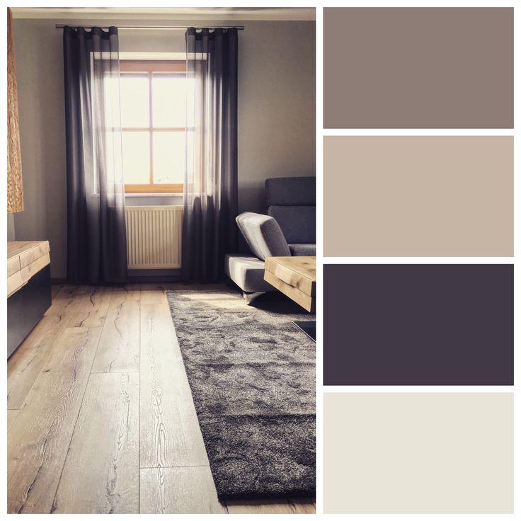 Moderne Farben im Wohnzimmer - Colorpalette: Inspirierende Farbcollagen #wohnzimmerideenwandgestaltung