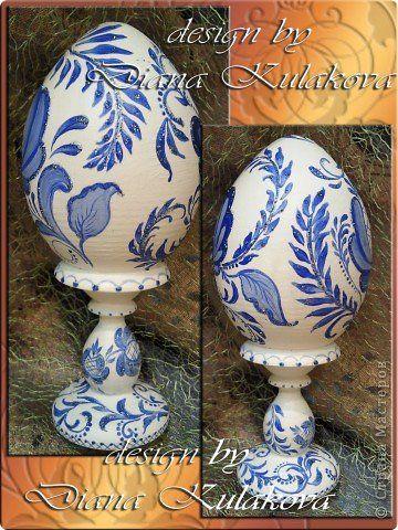 Декор предметов Пасха Роспись Яйца пасхальные - ручная роспись Краска фото 12