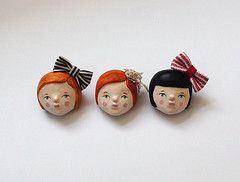 three imaginary girls...(brooches)