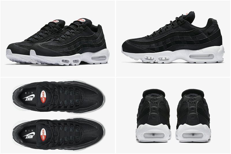 13495d80a1b9 2017 Fall Winter New NIKE AIR MAX 95 PREMIUM SE CYBER MONDAY Black Black  White Team Orange 924478-001