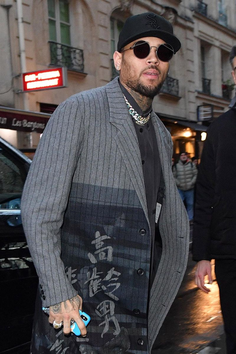 Chris Brown Tour 2020.Pop Singer Chris Brown Supermodel Naomi Campbell Rapper