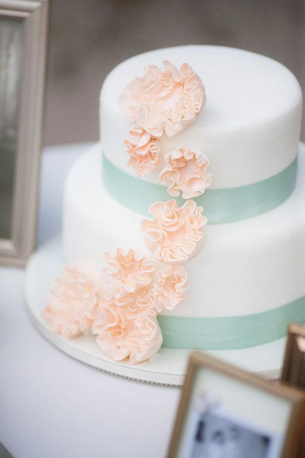 a cake with a mighty fine color palette by http://flourpower.com/  Photography by bmillerweddings.com