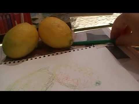 Koh-I-Noor Mondeluz watercolor pencils sketch from life - YouTube