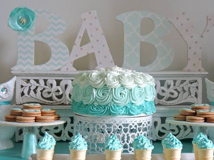 Turquoise Owl Welcome Home Baby Party Turquoise Baby Showers