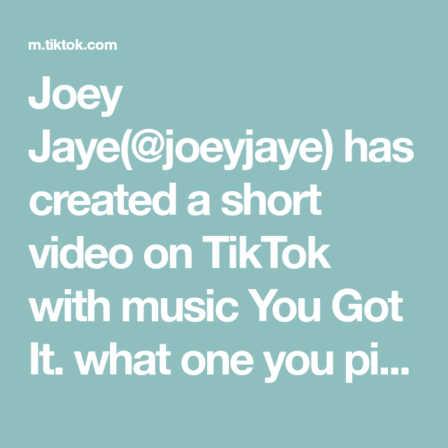 Joey Jaye Joeyjaye Has Created A Short Video On Tiktok With Music You Got It What One You Picking Fyp Povs Skatelife Thirfts Bored Jar Music How To Get