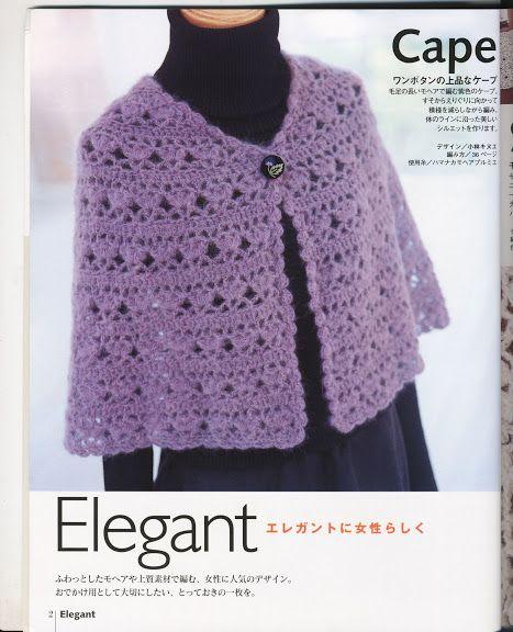 Crochet femmes Chales Ondori   Chales y ponchos.   Pinterest   Chal ...