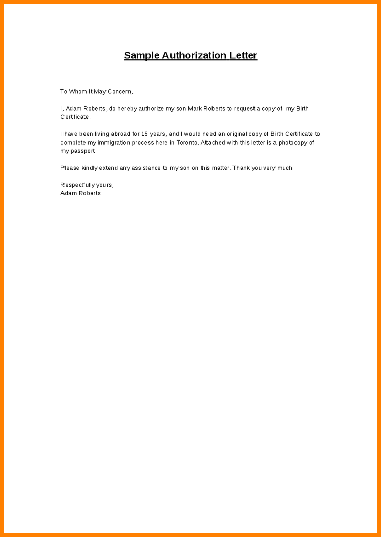 Authorization Letter Sample For Claiming Proffesional Cover