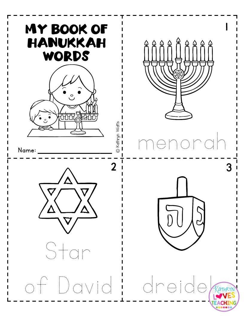 Hanukkah Mini Books Hanukkah Preschool Circle Time [ 1056 x 816 Pixel ]
