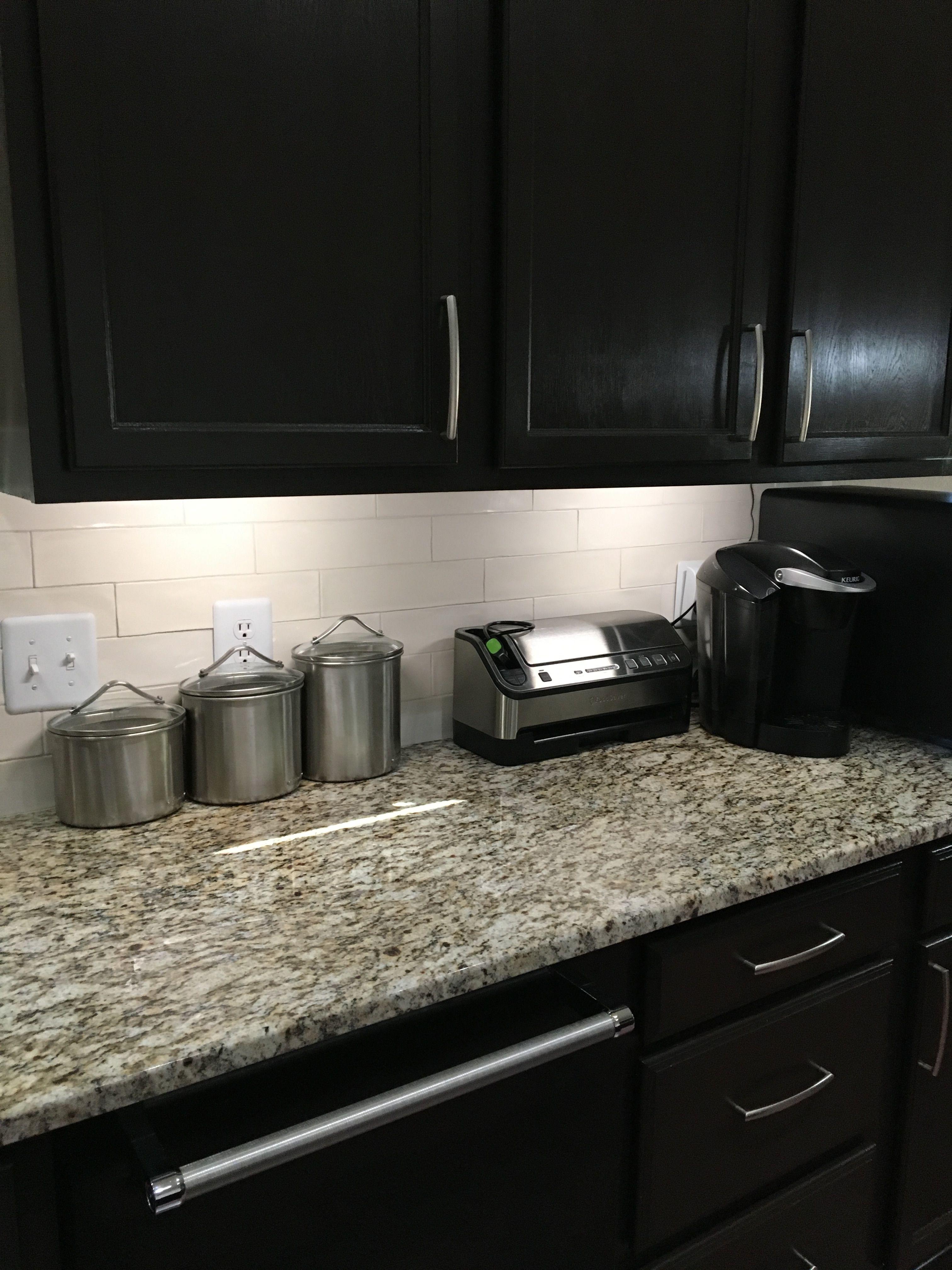 Santa Cecilia Granite And Dark Cabinets In 2019 Kitchen