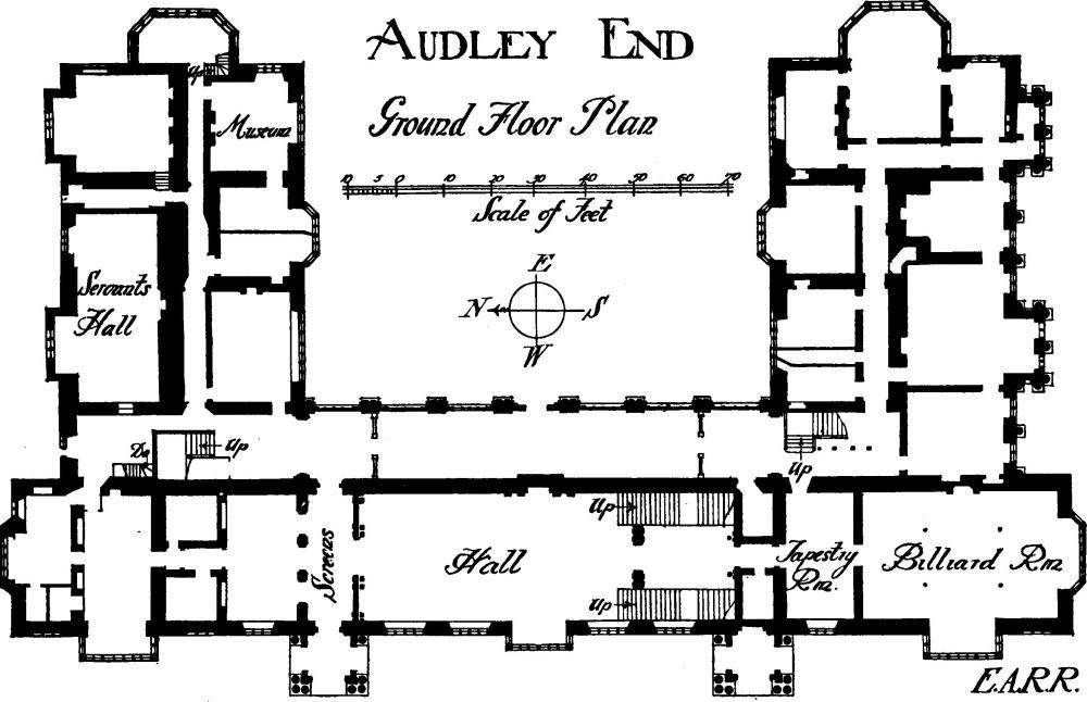 Image Result For Audley End House Floorplan · Mansion Floor PlansHouse ...