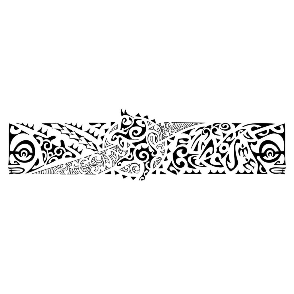 Polynesian Tribal Armband Tattoo Samoan Tattoo Hawaiian Tattoo Maori Tattoo