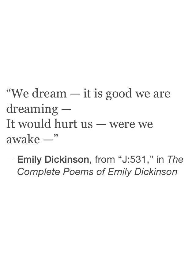 emily dickinson dream poem