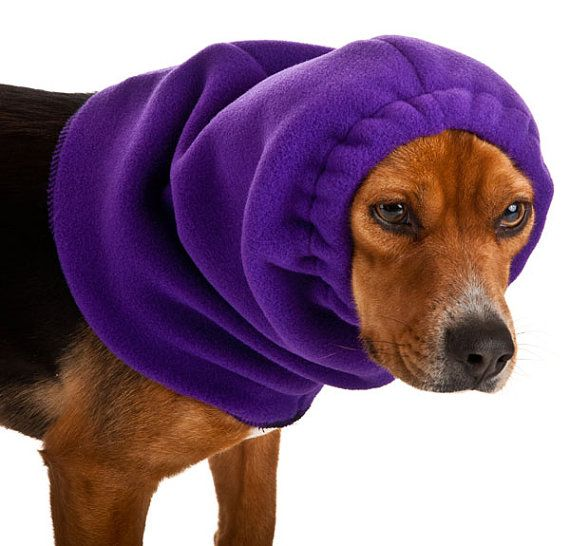 Beagle Dog Hood Dog Winter Hat Fleece Neck Warmer Dog Snood