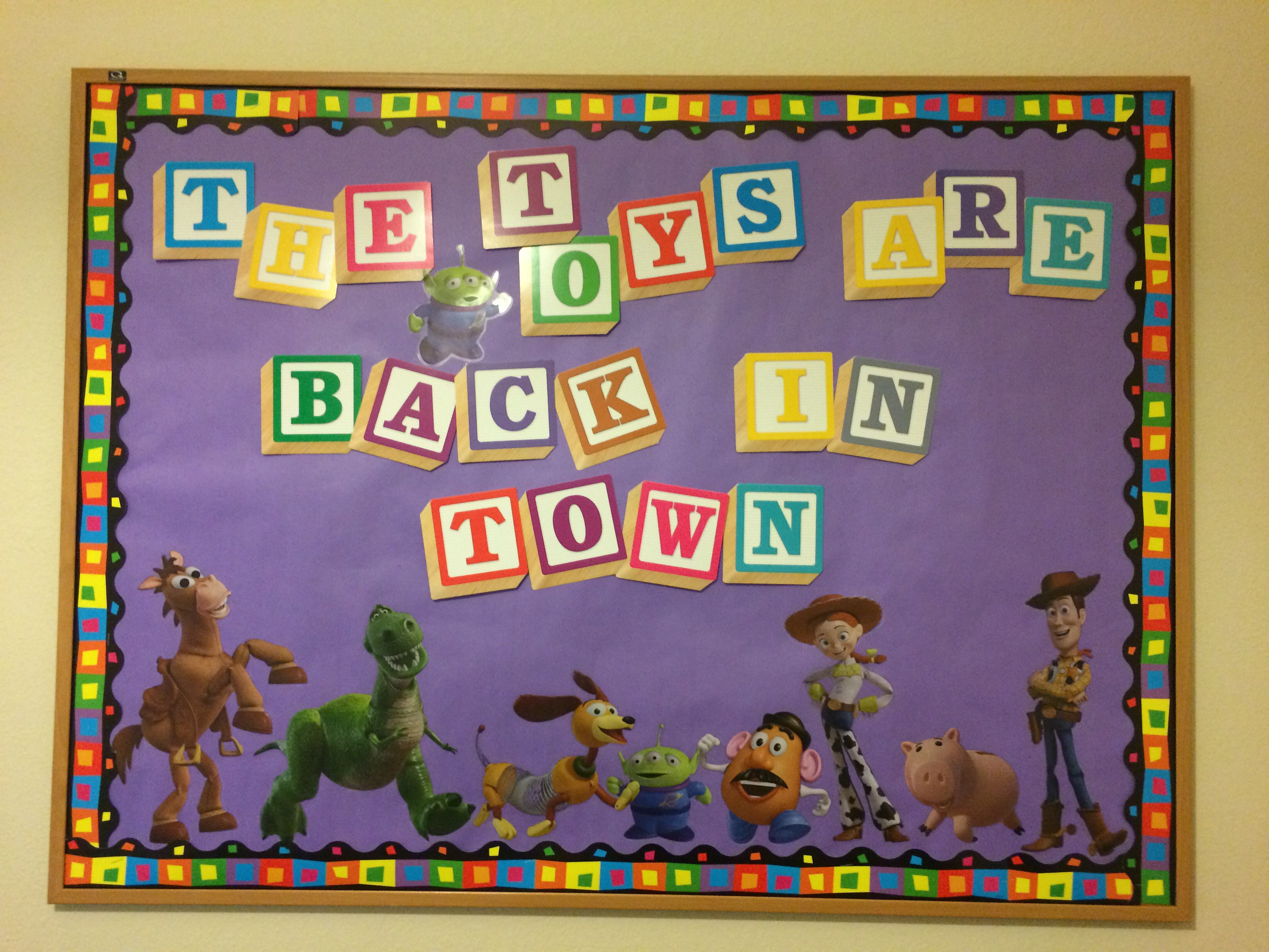 Toy Story Bulletin Board Back To School
