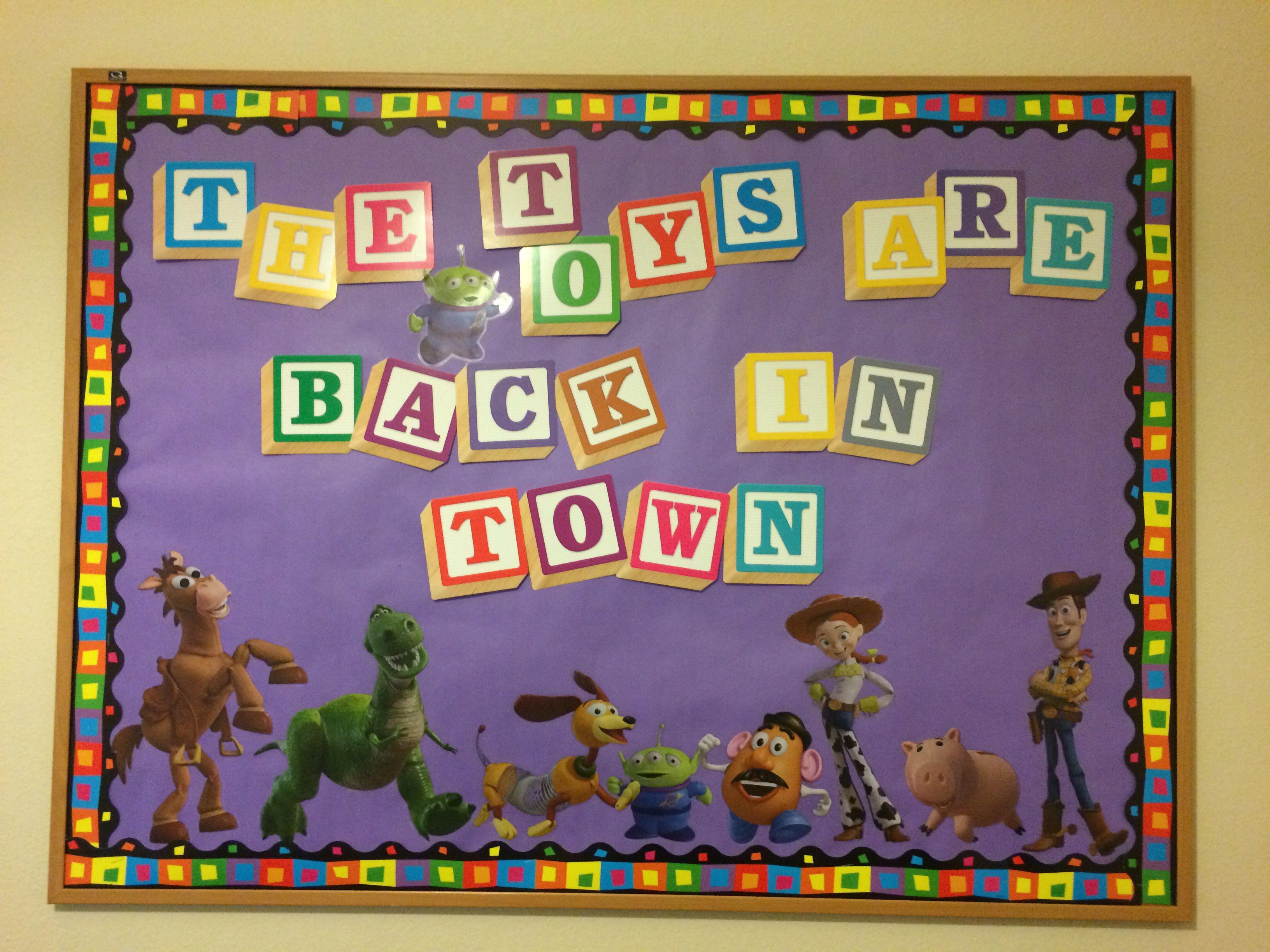 Toy Story Bulletin Board Back to School | Disney themed classroom, Story  bulletin board, Toy story crafts