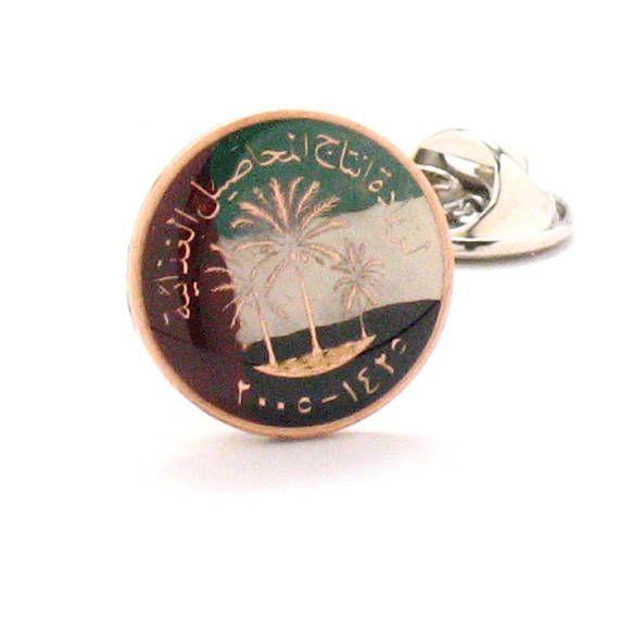 Abu Dhabi Lapel Pin Badge Engraved Personalised Box
