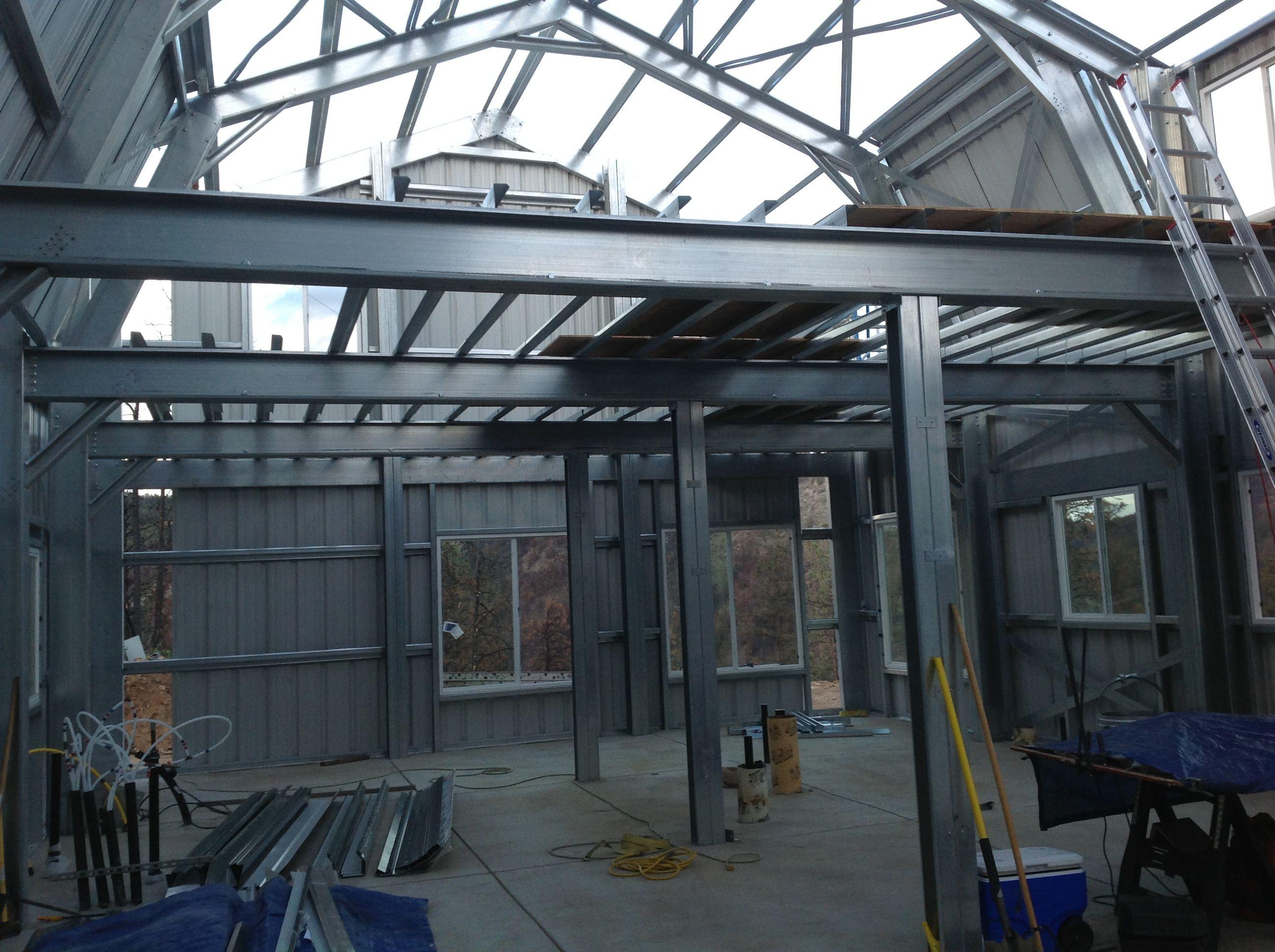 Steel Frame Home Ameribuiltsteel Steel Buildings Steel House Steel Frame House