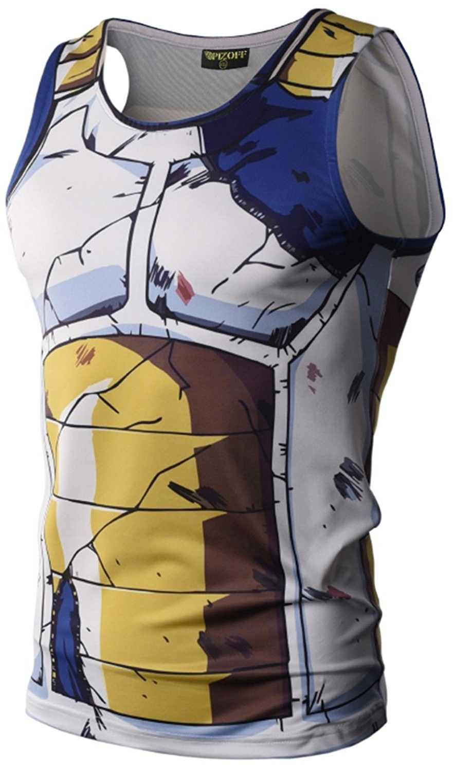 PIZOFF Unisex 3D Cartoon Print Work Out Compression Muscle Sleeveless Tank Top