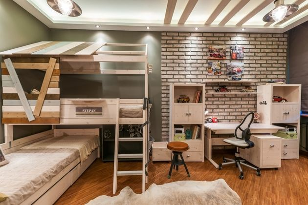 Loft Style Children S Room Bunk Beds For Girls Room Attic Bed