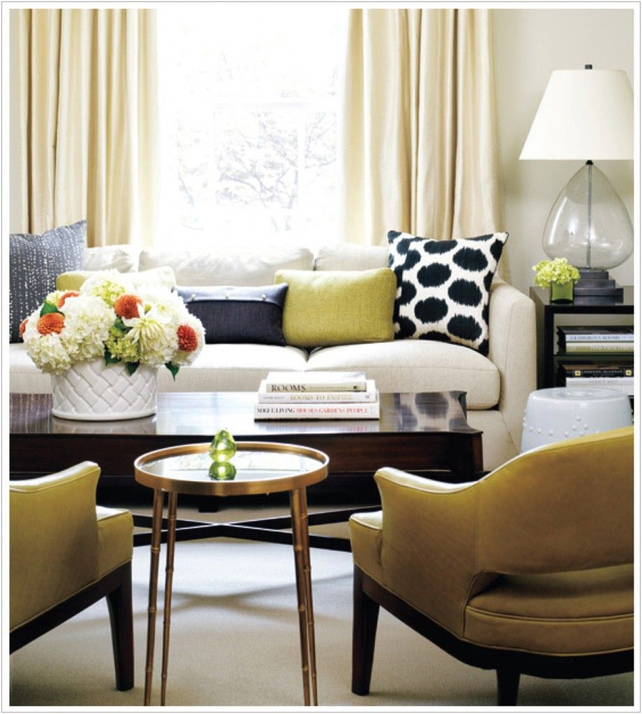 Bronze and rich muted yellow adds warmth to an existing neutral ...