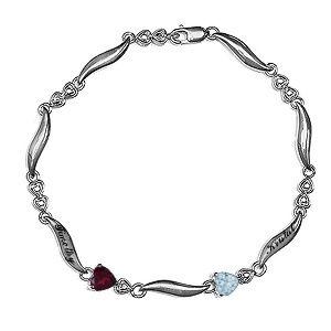 Color Stone Couples Bracelet