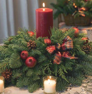 CENTROS DE MESA PARA NAVIDAD Navidad Xmas and Christmas time