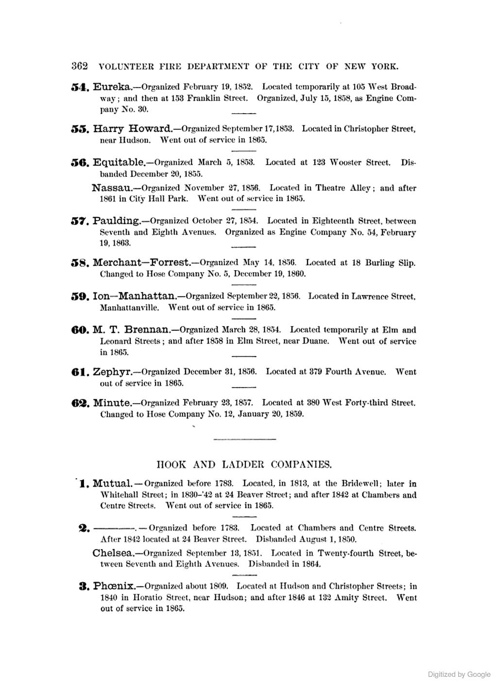 [1884]: HOSE COMPANIES. (last)[Sheldon, GEO. 1885, The