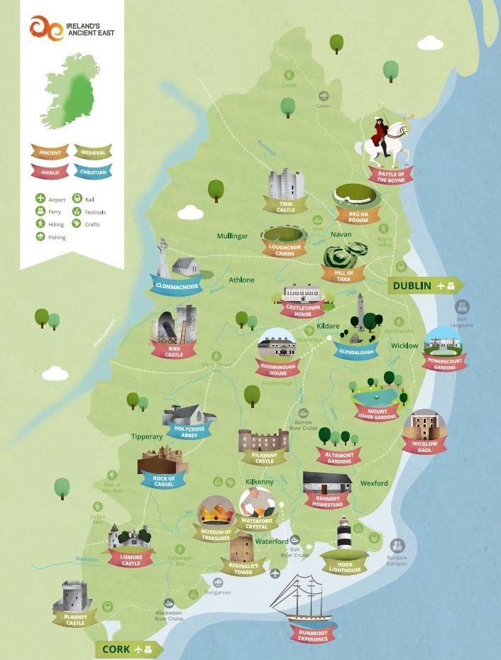 Wexford Map Of Ireland.Ireland S Ancient East 5 000 Years Of History Heritage Is