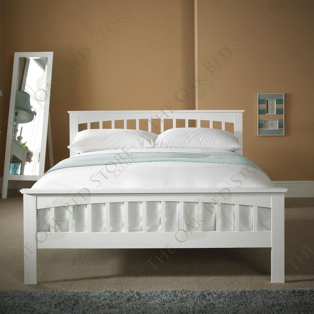 Opal White Serene Mya 4FT6 Double 135cm Hevea Bed