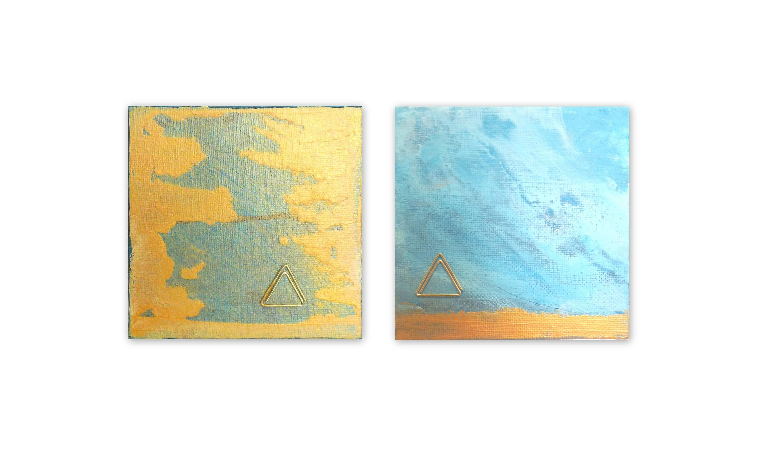 The Set of 2 Klein hiding in the sky Collection Abstract art ...