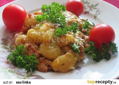 Photo of Gnocchi baked with cream, leek and bacon recipe – TopRecepty …
