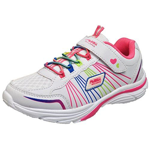 28e24fe08dcf cool Air Balance Girls Fashion Sneakers -Lightweight - White Fuchsia ...