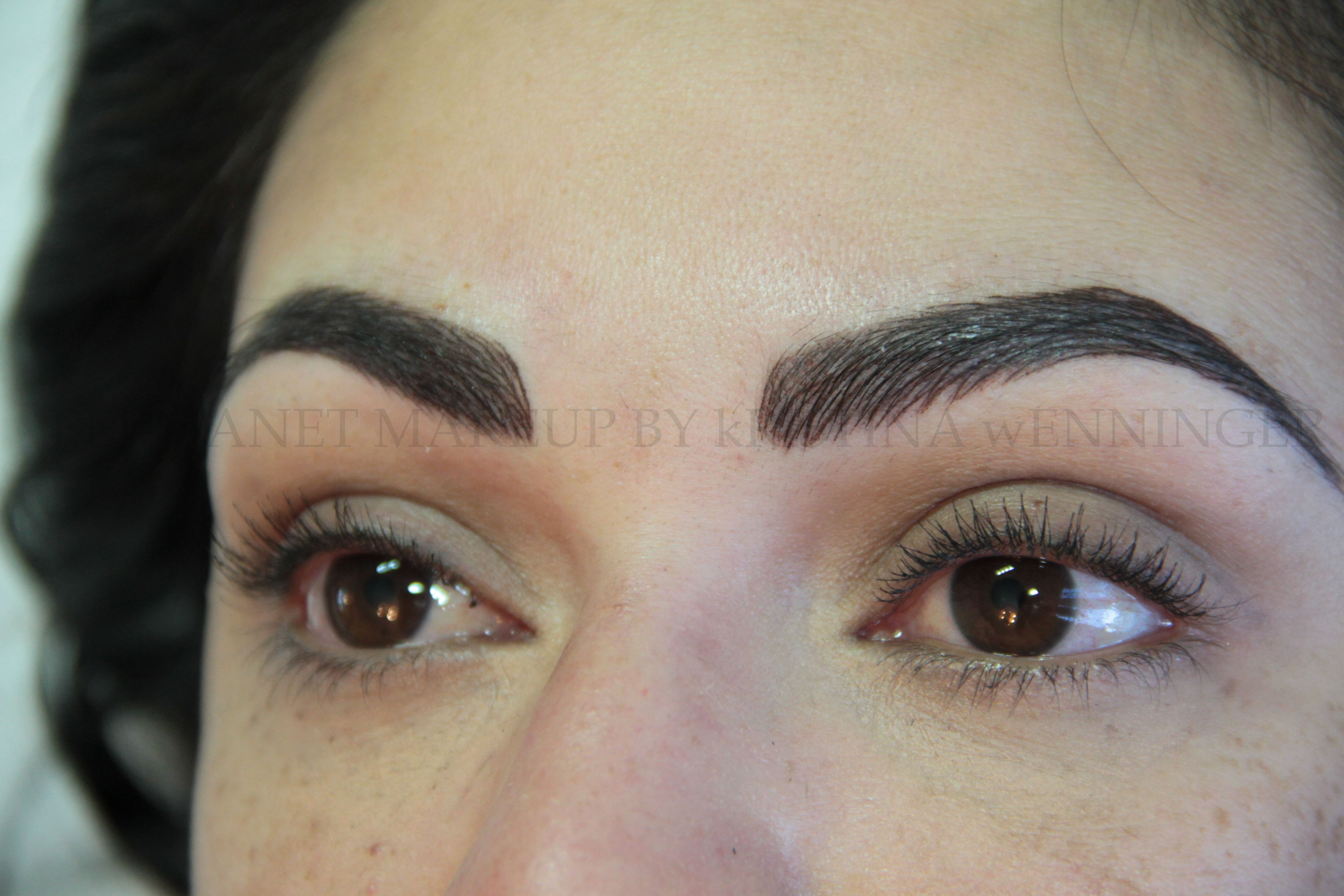 Gorgeous Full Brows Semi Permanent Makeup Eyebrows Done By Kristina