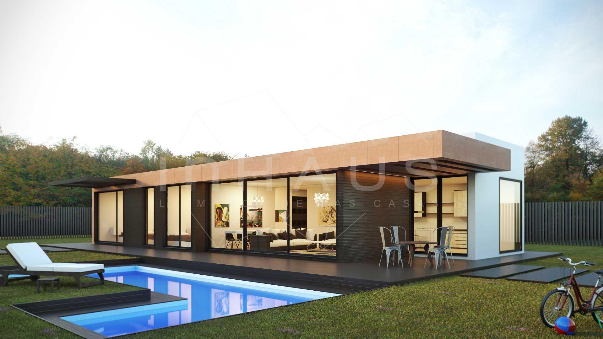 Casas prefabricadas minimalistas inhaus vista principal - Casas prefabricadas mediterraneas ...