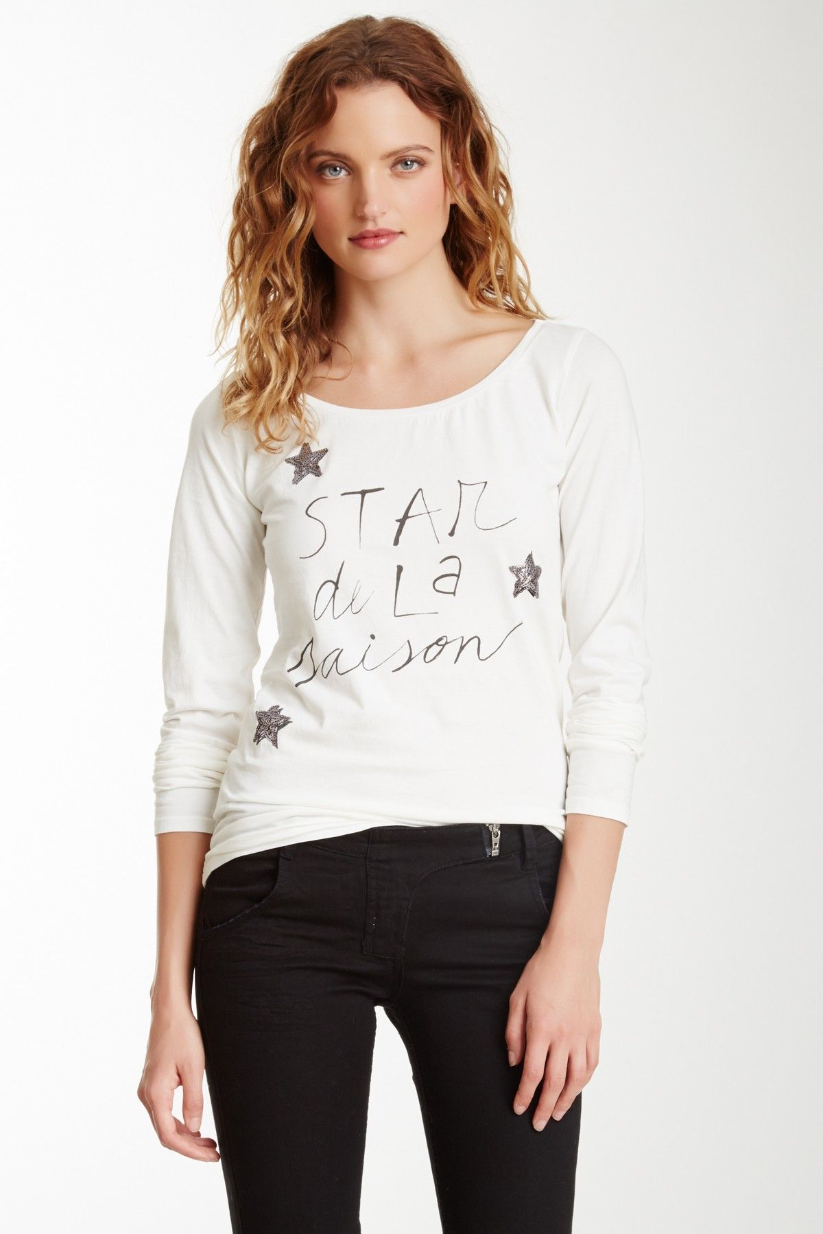 Maison Scotch French Theme Long Sleeve Tee//