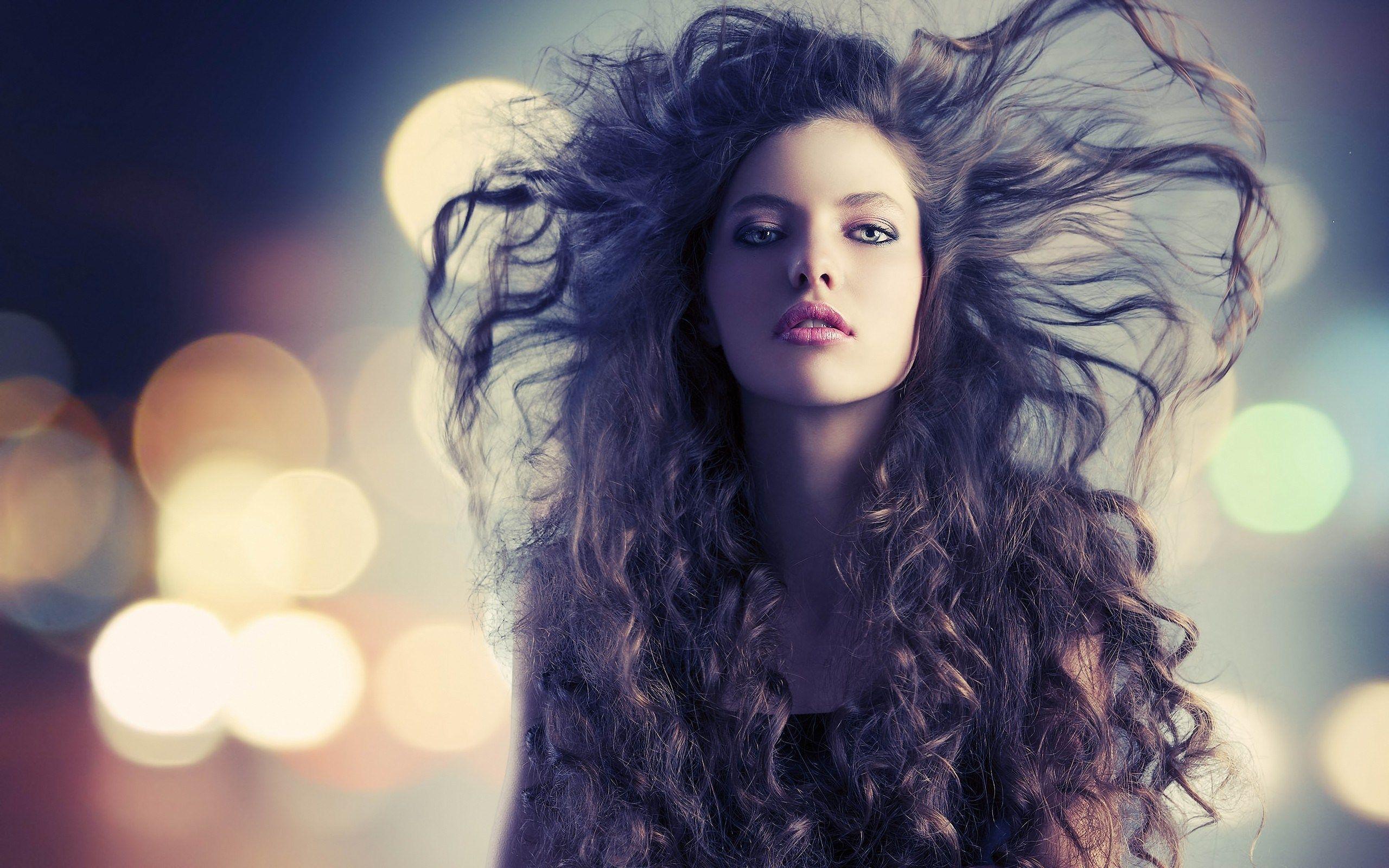 Beautiful Girl Fashion Models Bokeh Lights Photo Hd