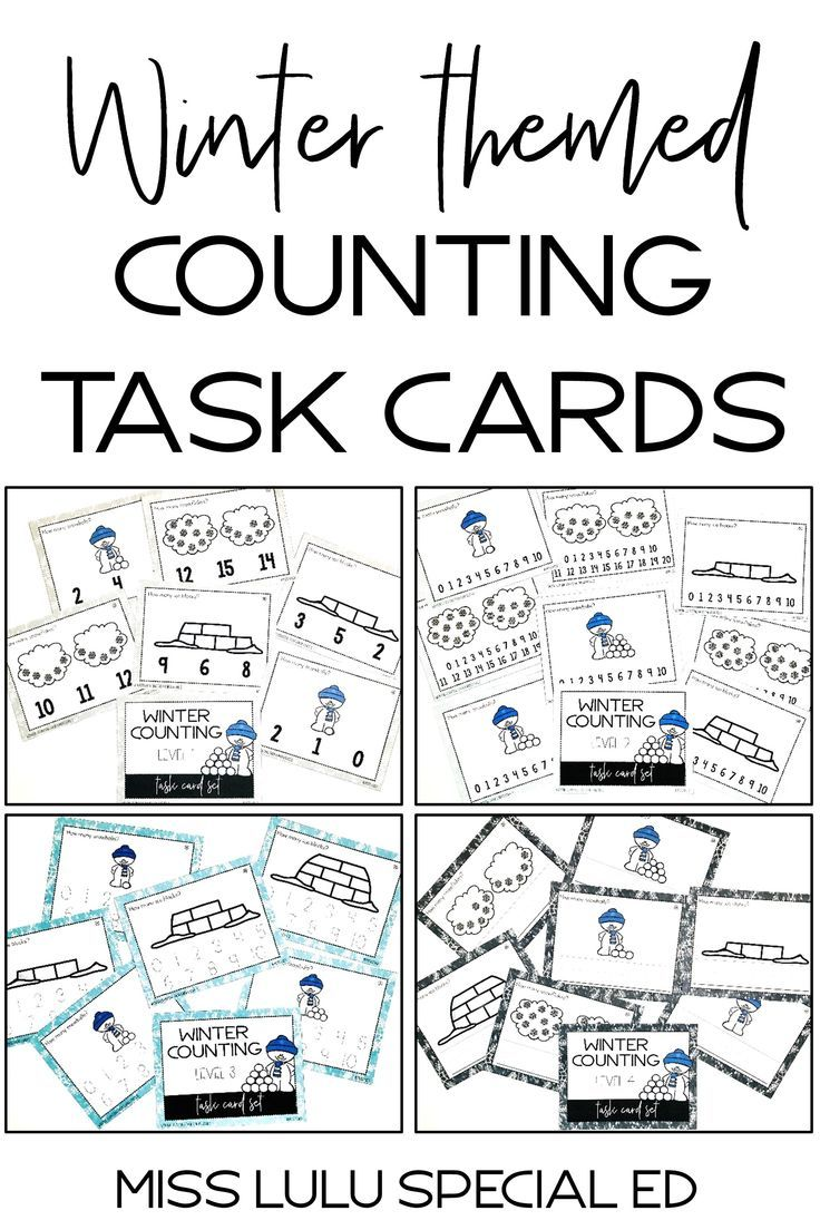 Winter Counting Task Cards {4 Levels for Differentiation