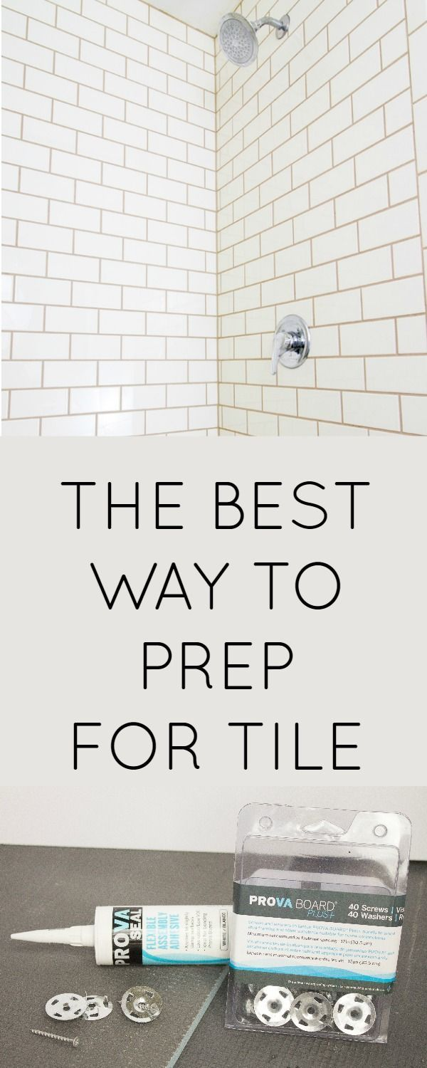 How To Install Tile Backer Board The Easy Way Best Waterproof And Prep Your Shower Before You Retile It Is With Prova Plus