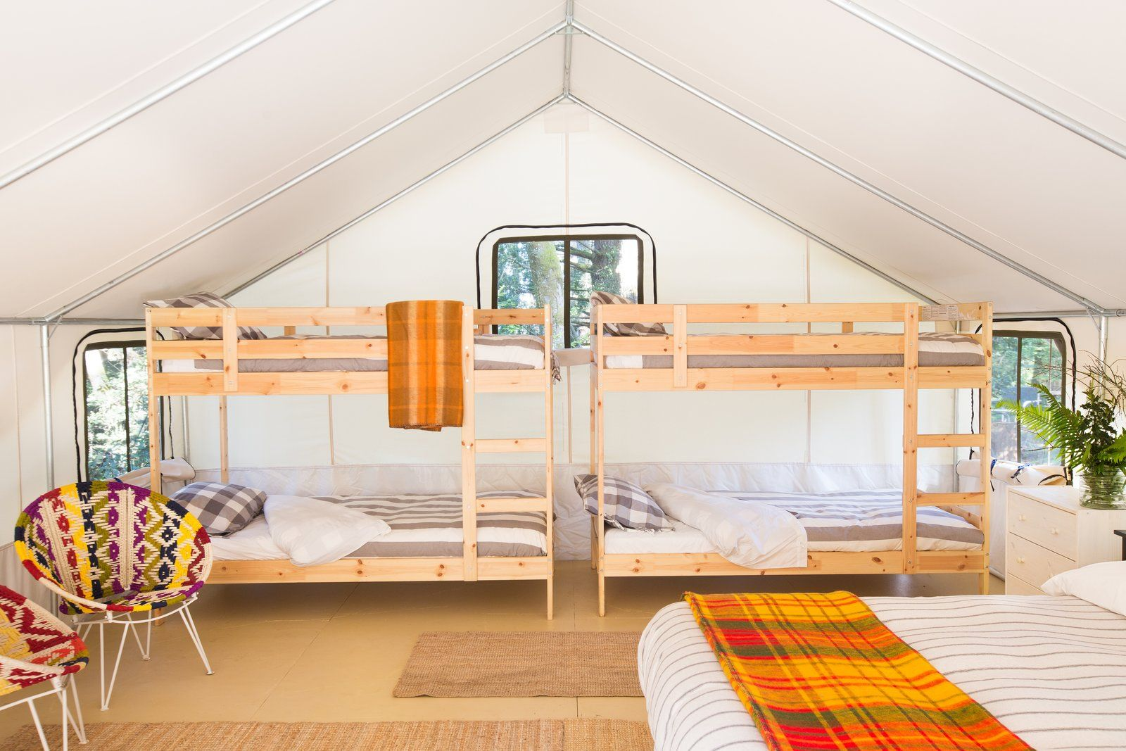 Camp Out In A Comfortable Tent Or Airstream In Northern California Bunk Beds Mendocino Tent