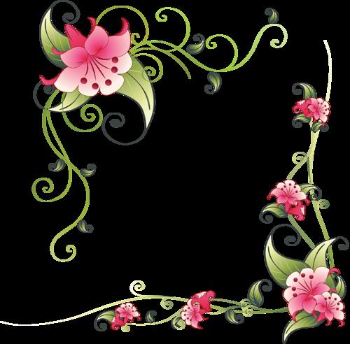 Flower corner design page borders Pinterest Flower