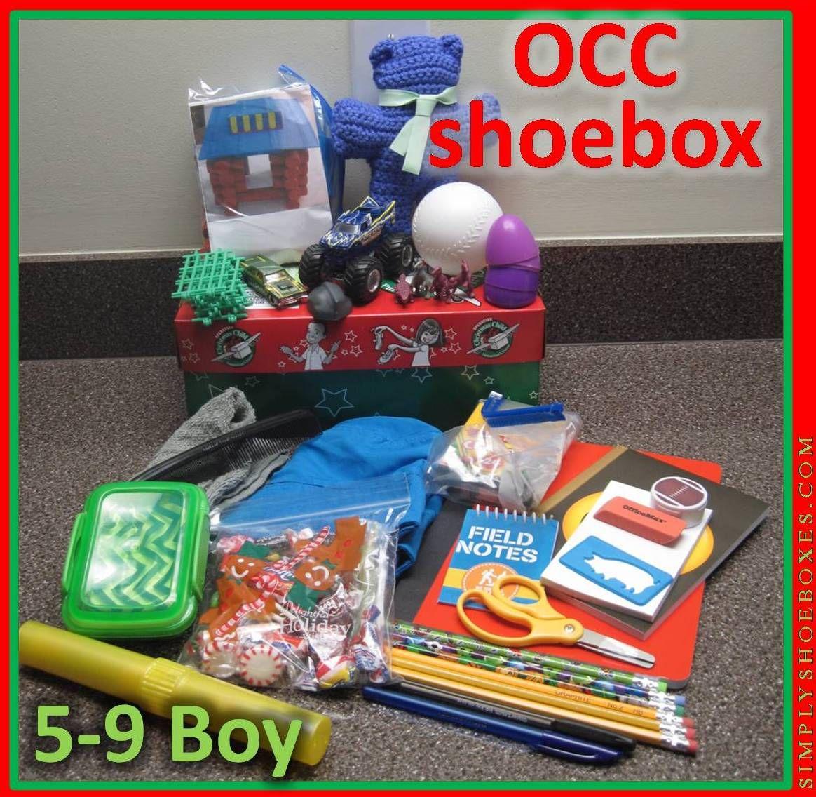 5 to 9 Year Old Boy Operation Christmas Child Shoebox | Weihnachten ...