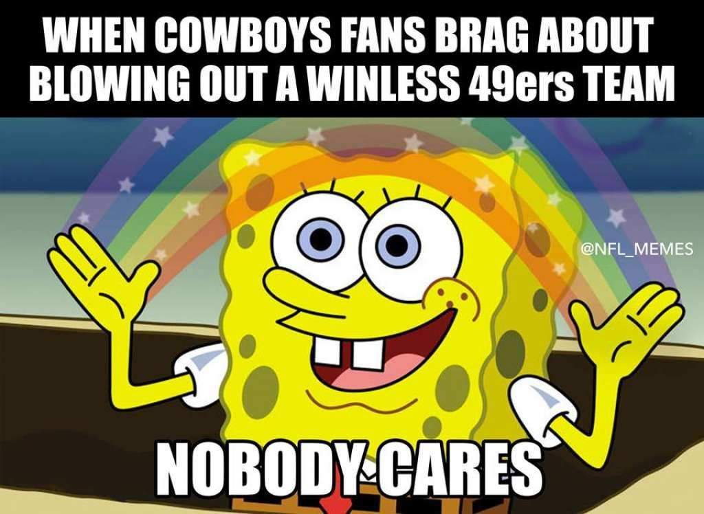 Memes Have Fun With Cowboys Blowout Win Over 49ers Dance Memes Dance Humor Just Dance